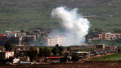 Smoke rises from shells fired from Israel over al-Wazzani area in southern Lebanon January 28, 2015.(Reuters / Karamallah Daher)