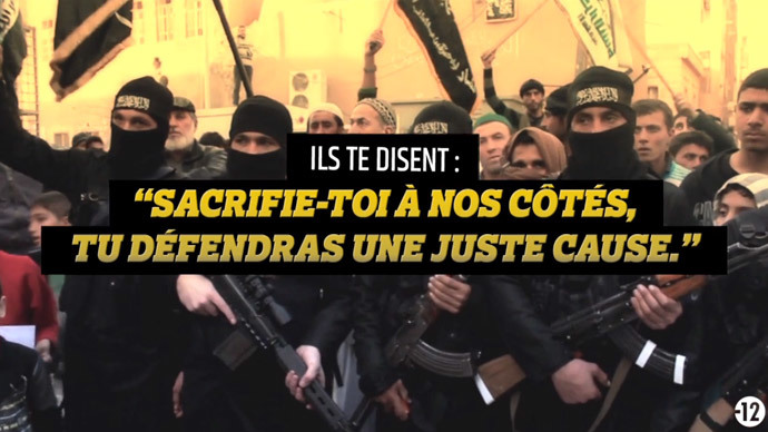 "A screenshot from the ""Stop Jihadism"" video from the French government."