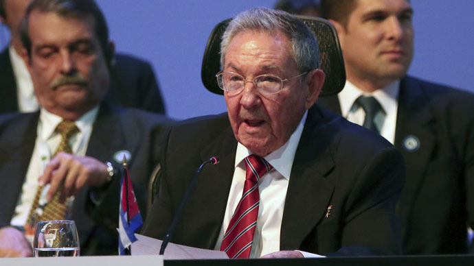 Cuba's President Raul Castro speaks during the opening ceremony of the Community of Latin American and Caribbean States (CELAC) summit in San Antonio de Belen province of Heredia January 28, 2015. (Reuters/Costa Rica Presidency)