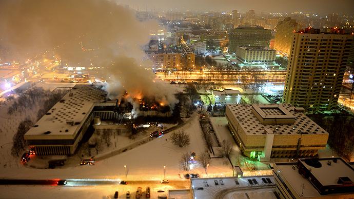 INION fire site (RIA Novosti / Vladimir Ostapkovich)
