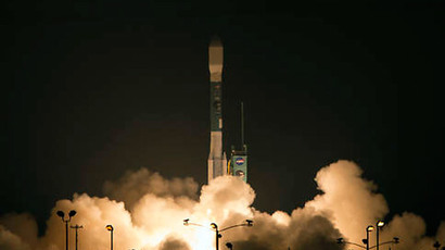 NASA's Soil Moisture Active Passive (SMAP) observatory, on a United Launch Alliance Delta II rocket, launches at 14:22 GMT Saturday from Space Launch Complex 2, Vandenberg Air Force Base, California. (NASA / Bill Ingalls)