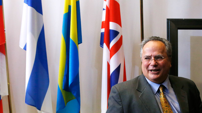 Greek Foreign Minister Nikos Kotzias.(Reuters / Francois Lenoir )