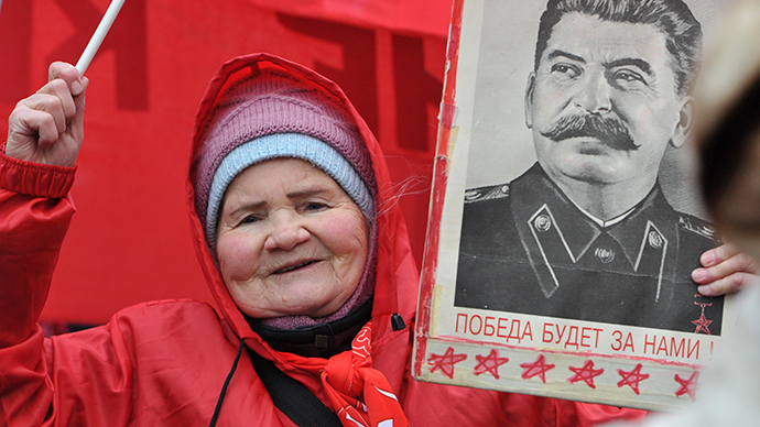 A participant in a demonstration organized by the Russian Communist Party (RIA Novosti / Sergey Kuznecov)