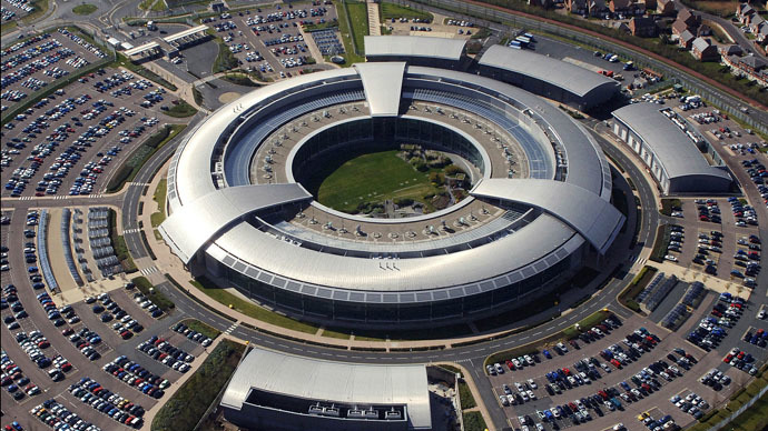 An aerial image of the Government Communications Headquarters (GCHQ) in Cheltenham, Gloucestershire. (Photo from wikipedia.org)