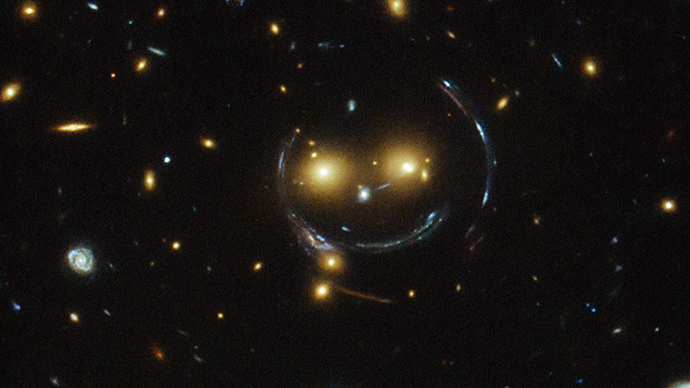 ​Say cheese! Hubble telescope captures extraterrestrial smiley face