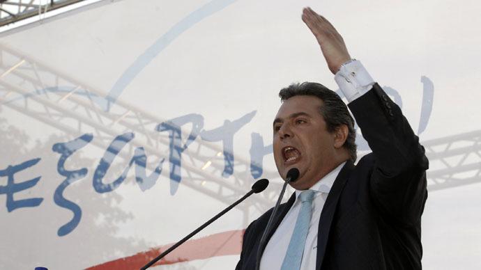 Greek Defense Minister Panos Kammenos (Reuters/Yorgos Karahalis)