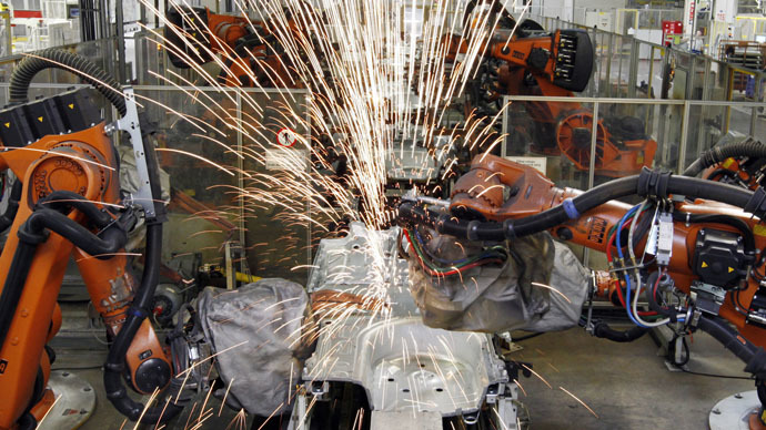 Robots rising: Automated workforce rapidly gaining on humans, will push labor costs down – report