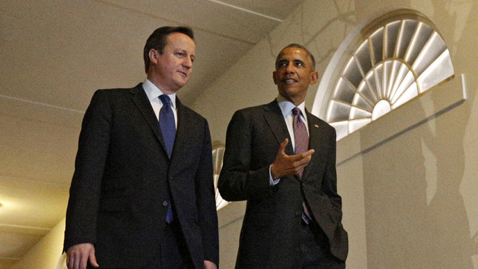 NATO will be harmed by UK defense cuts, Obama tells Cameron