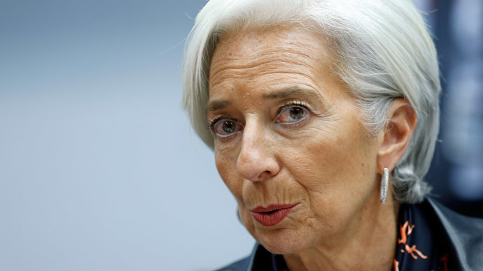 International Monetary Fund (IMF) Managing Director Christine Lagarde.(Reuters / Francois Lenoir)