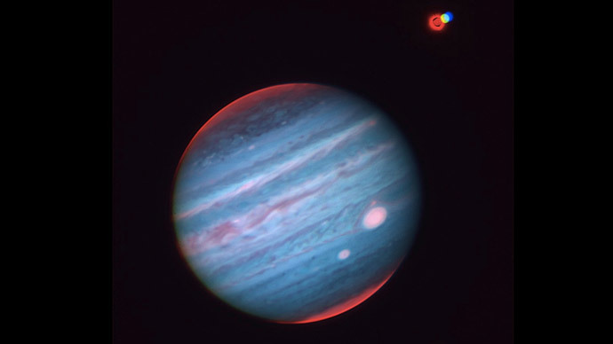 Jupiter's 'Great Red Spot'.(Image by naoj.org)