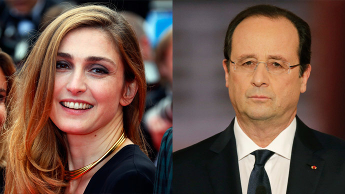 Actress Julie Gayet (Reuters/Yves Herman) and French President Francois Hollande (Reuters/Philippe Wojazer)