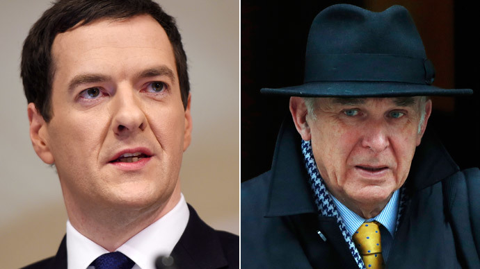British Chancellor of the Exchequer George Osborne, Britain's Business Secretary Vince Cable.(Reuters / Andy Rain / Luke MacGregor)
