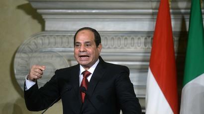 Egyptian President Abdel Fattah el-Sisi.(AFP Photo / Filippo Monteforte)