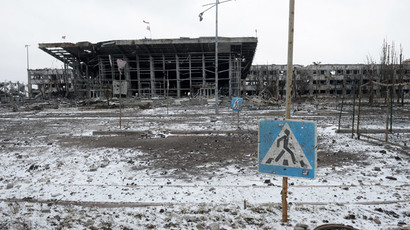 Remains of fighters who died months ago retrieved from rubble at Donetsk airport