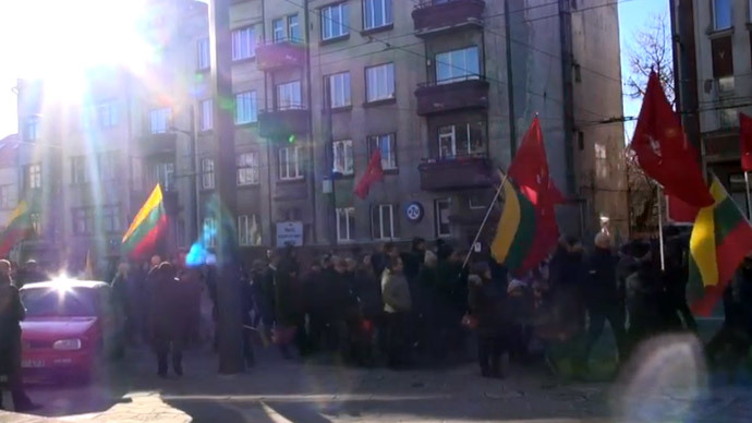 500 Lithuanian fascists march near WWII-era execution site of 10,000 Jews