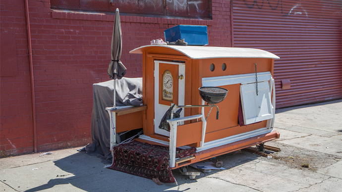 tiny houses california homelessness gets new 40 solution photos rt america