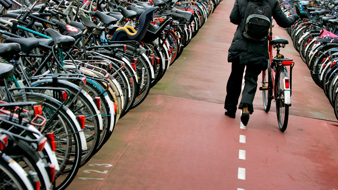 Bike blockade! Cycle-clogged Amsterdam mulls underwater parking