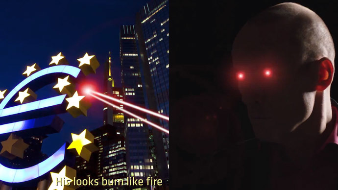 'V for Varoufakis!' Greek finance minister burns EU with laser eyes (VIDEO)