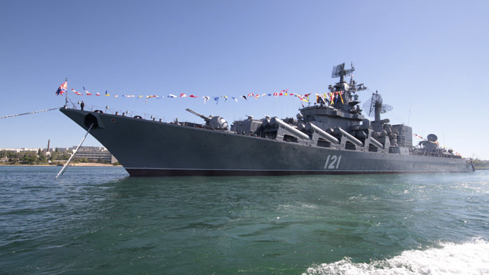 Russian missile cruiser Moskva. (Reuters/Stringer)