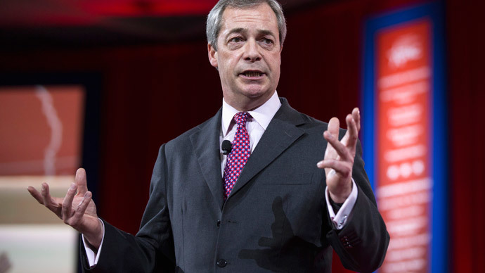 Leader of the United Kingdom Independence Party (UKIP) Nigel Farage.(Reuters / Joshua Roberts)