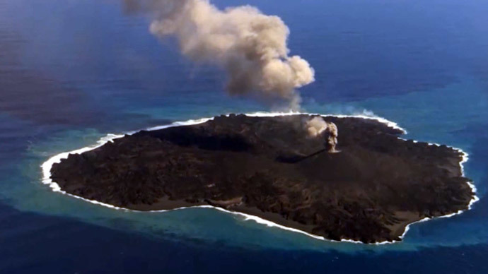 Japanese volcanic island grows to 11 times its original size - and ain't stopping