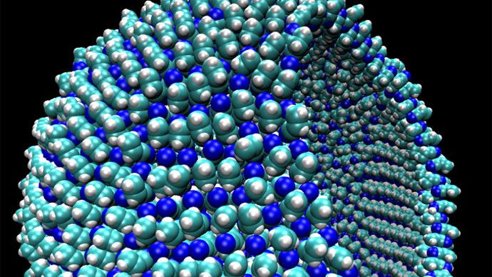 Arepresentationofa9-nanometerazotosome,aboutthesizeofavirus.(Image from the study)