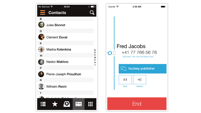 ​New iOS app encrypts communications between major smart phones