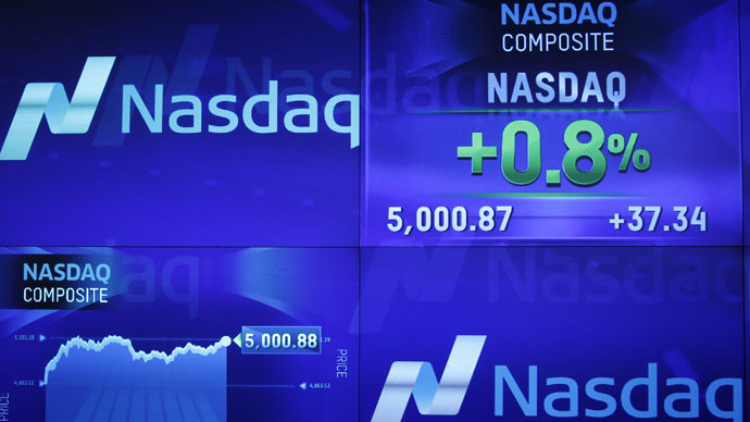 ​Nasdaq index hits 5,000 first time since 2000