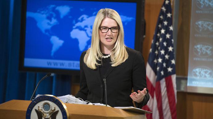 US State Department Deputy Spokesperson Marie Harf (AFP Photo/Saul Loeb)