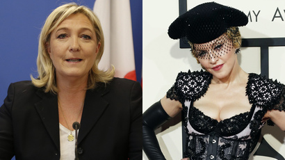 Marine Le Pen accepts Madonna's invitation out