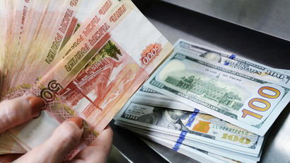 Russian ruble hits all-time 2015 high