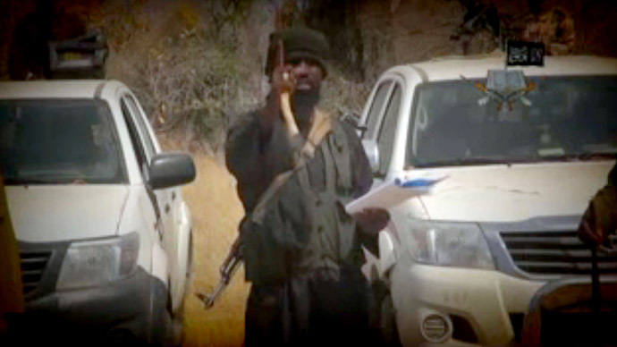 In this screen grab image taken on February 9, 2015 from a video made available by Islamist group Boko Haram, leader Abubakar Shekau makes a statement at an undisclosed location. (AFP Photo/Boko Haram)