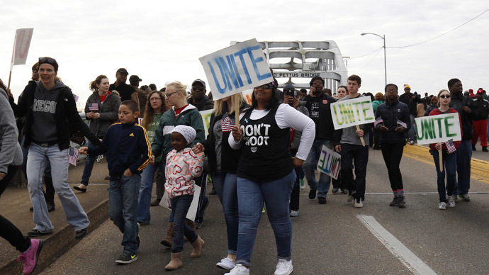 'Black lives matter': 70,000 march across 'Bloody Sunday' bridge in Selma (PHOTOS, VIDEO)