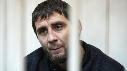 Zaur Dadaev, a suspect in the murder of politician Boris Nemtsov, at the Basmanny Court's session in Moscow. (RIA Novosti/Maksim Blinov)