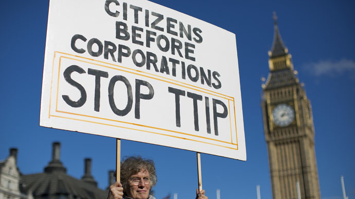 British MPs say US-EU free trade deal must not leave govts at multinationals' mercy