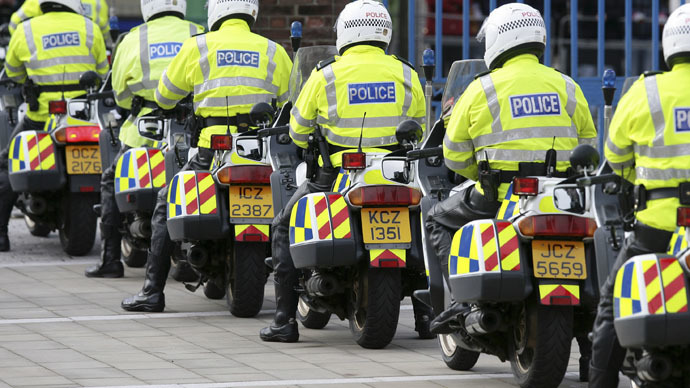 Motorcycle officers from the Police Service of Northern Ireland (Reuters/Michael Cooper)