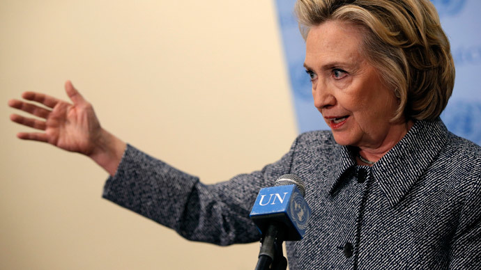 Former United States Secretary of State Hillary Clinton.(Reuters / Mike Segar)
