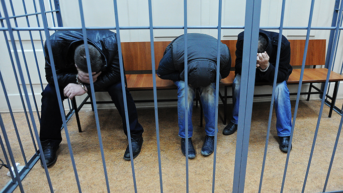 Suspects in the murder of politician Boris Nemtsov at Moscow's Basmanny Court (RIA Novosti / Maksim Blinov)