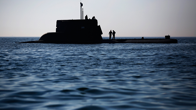 Marines stand outside, on the Polish submarine ORP SEP, during NATO Submarine Rescue Exercise Dynamic Monarch on Gdansk Bay, near Hel in the Baltic Sea (Reuters / Kacper Pempel)