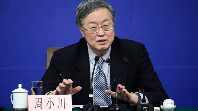 China's central bank governor Zhou Xiaochuan answers a question at a news conference during the annual session of the National People's Congress (NPC), the country's parliament, in Beijing, March 12, 2015 (Reuters / Jason Lee)