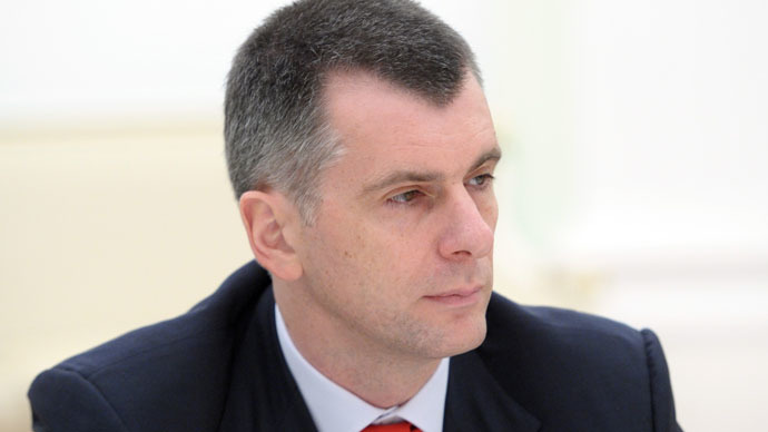 Billionaire Prokhorov calls own party 'senseless' and quits