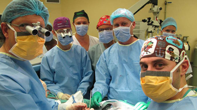 The team that performed the transplant (Photo: Stellenbosch University)