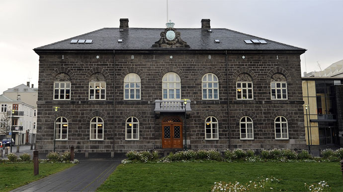 View of the building housing Iceland's parliament (AFP Photo/Oliver Morin)