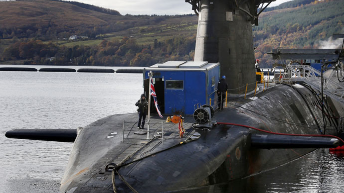 HMS Victorious is seen berthed at the Clyde Naval Base in Scotland (Reuters/Danny Lawson)