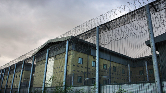 The Harmondsworth Detention Centre near London's main Heathrow airport. (AFP Photo / Adrian Dennis)