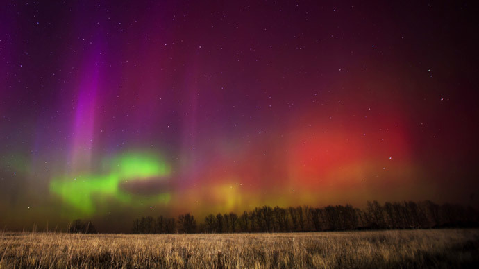 Aurora in Mikhailovsky District of the Ryazan Region. (RIA Novosti / Igor Podgornyi)