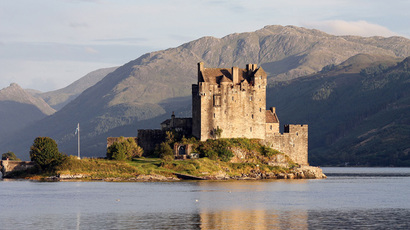 The Eilean Donan Castle, seen from the west. (Image from Wikipedia)