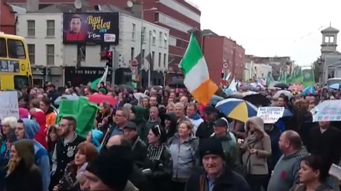 Irish water struggle: Thousands to march against 'ideologically-driven' water charges