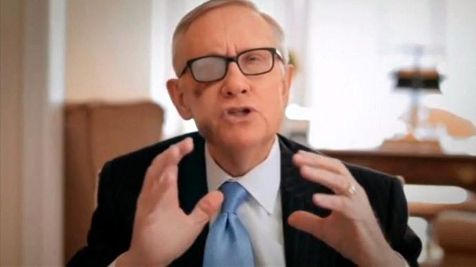 U.S. Senate Democratic leader Harry Reid.(Reuters / Senate TV)