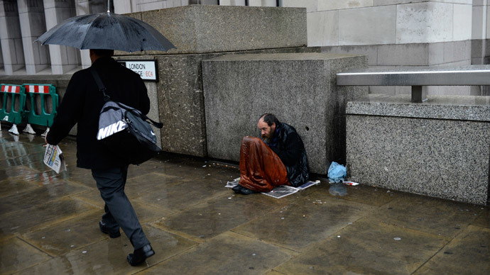 Homelessness in London soars by 79% since 2010 – report